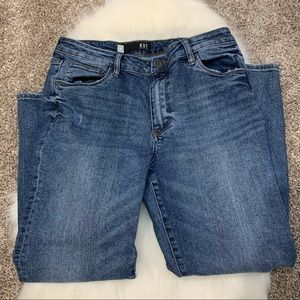 KUT Reese Jeans High Rise Ankle Straight Leg 10